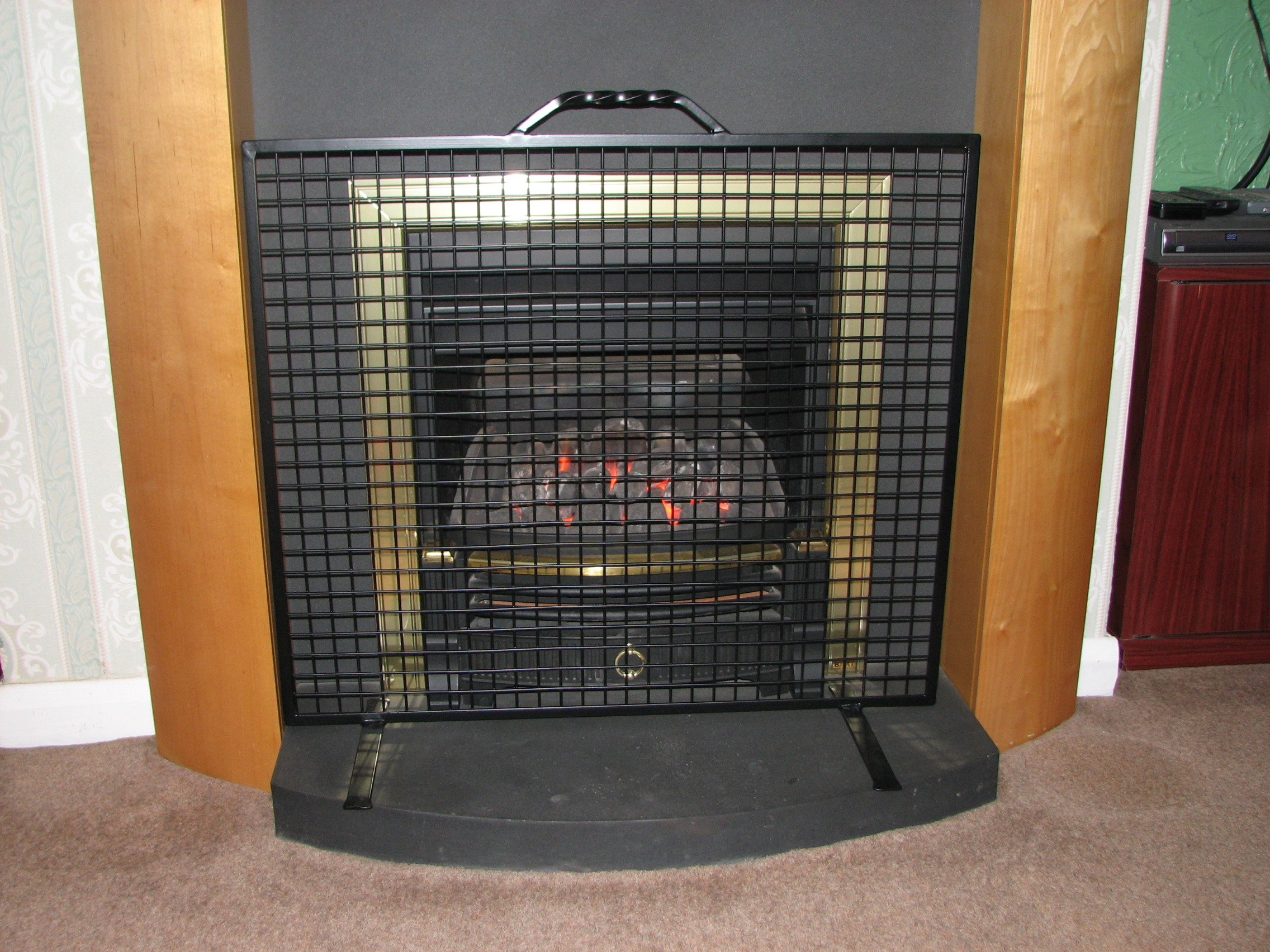 fireplace guards calfire noble heavy stove guard 24 inch 14849 4